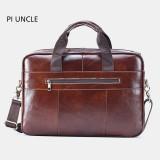 Men Genuine Leather Large Capacity Handbag Croddbody Shoulder Bag Business Bag
