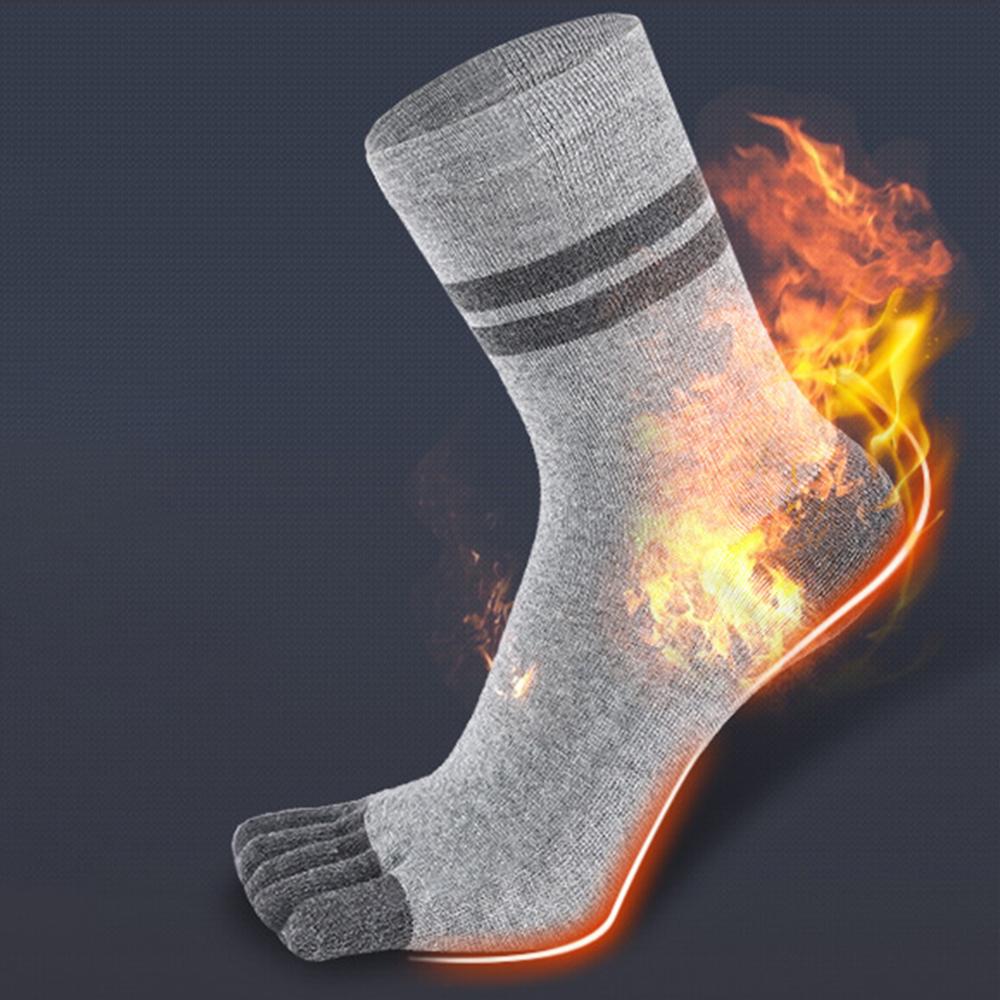 Men's Sterilization Five Finger Socks Sock Long Thick Cotton Socks Men's Cotton Tube Socks