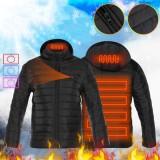 Men's USB Electric Heating Coat 3 Temperature Infrared Heated Waterproof Winter Thermal Warm Jacket Coats