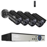 Hiseeu 8CH 5MP AHD DVR 4PCS CCTV Camera Security System Kit Outdoor Waterproof Video Surveillance 3.6mm Lens
