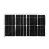 50W Solar Panel Solar Cells Poly Solar Panel Dual USB Output for Car Yacht 18/12/5V Battery Boat Charger