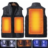Dual Control Electric Vest Heated Outdoor Jacket USB Warm Up Heating Pad Winter Body Warmer