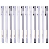 XIAOMI Ecosystem Deli A025B-01 12 Pcs/box Full Needle 0.38mm 0.5mm Gel Pen Transparent Barrels Black Ink Simple Writing Signing Pens Office School Supplies