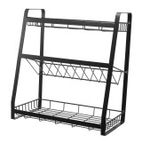 Kitchen Stainless Spice Jars Rack Seasoning Shelf Holder Storage Organizer Stand Kitchen Storage Rack