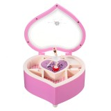 Heartshaped Dancing Ballerina Classical Music Box for Home Decoration Kids Gift