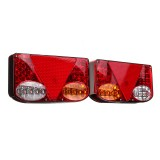 Pair 12V LED Rear Tail Lights Turn Signal Indicator Lamp For Car Trailer Truck Lorry Pick-Up