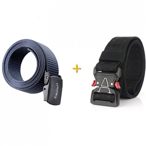 1Pcs Black ZENPH 125cm Nylon Waist Belt From Xiaomi Youpin + 1Pcs Black 125cm ENNIU MH04 3.8cm Nylon Waist Belts
