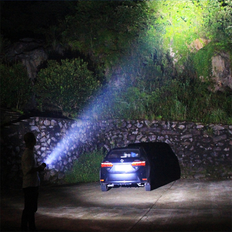 XANES 350Lumens Zoomable 3Modes USB Rechargeable IPX4 LED Flashlight Mini Flashlight 18650 Flashlight Outdoor Multifunctional Flashlight