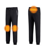 Electric USB Winter Heated Warm Pants Trousers Heating Fleece Skiing Warmer Men L-7XL