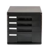 Deli 9772 File Cabinet Tour-Storey File Cabinet Plastic Desktop Organizer File Cabinet Drawer Cabinet Data Cabinet