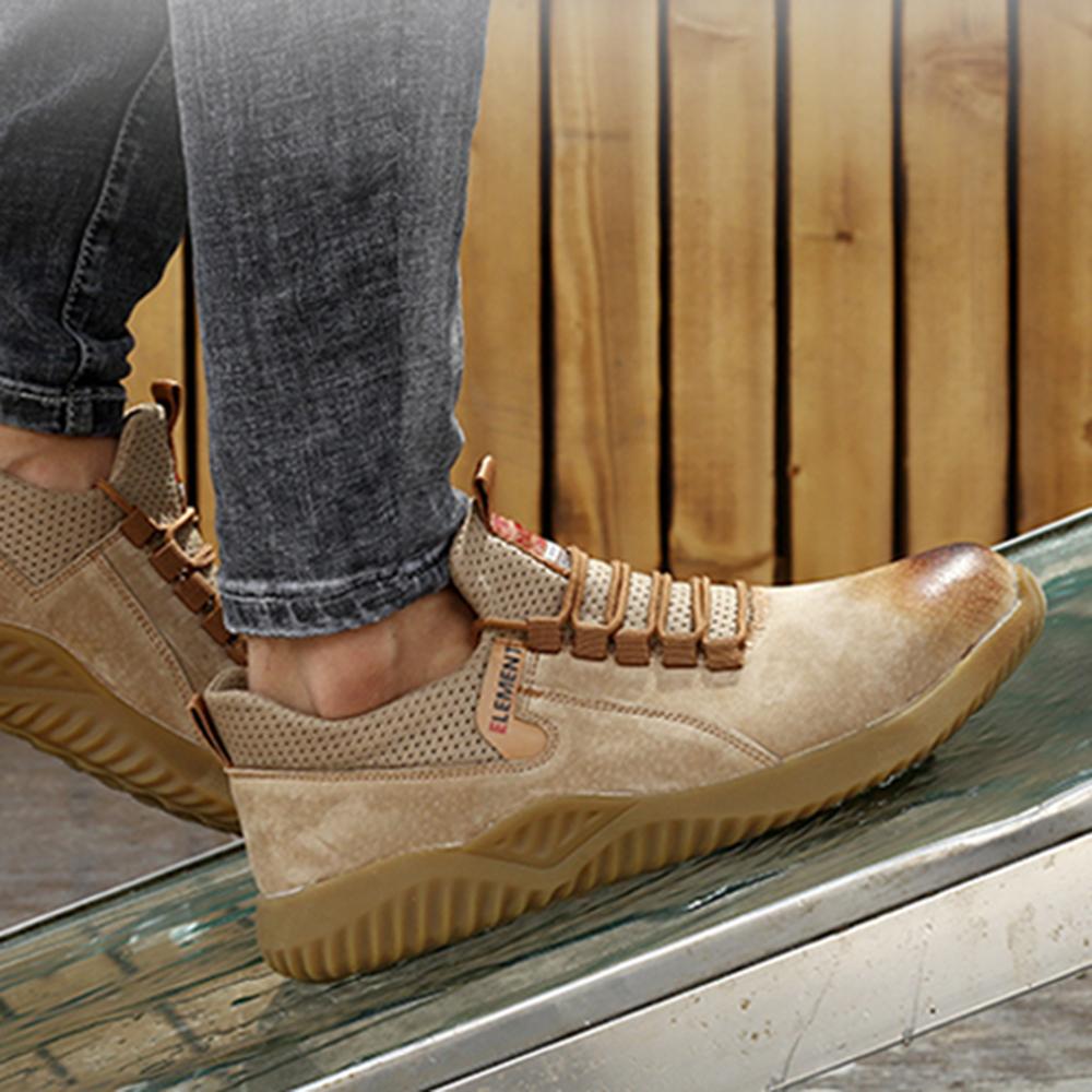 Men Anti-Crash Steel Toe Puncture Proof Slip Resistant Safety Work Shoes