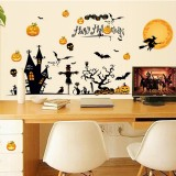 Miico MJ8006 Halloween Sticker Cartoon Sticker Removable Wall Sticker For Halloween Decoration Room Decoration