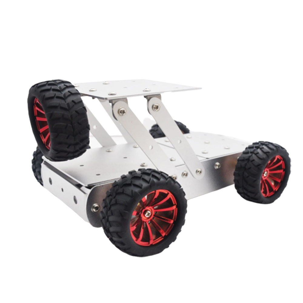 DIY Aluminous Smart RC Robot Car Chassis Base With Motor For Assembled Jeep Car Models