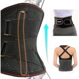 BOER Lumbar Support Adjustable Back Posture Corrector Unisex Waist Protector