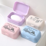 L856 Soap Dish Bathroom Home Clam Shell Soap Storage Box Slip Easy To Clean Protective Cover Bathroom Supplies