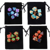 7Pcs Polyhedral Dices Set for Dungeons Dragons D20 D12 D10 D8 D6 D4 Games +Storage Pouches Bag