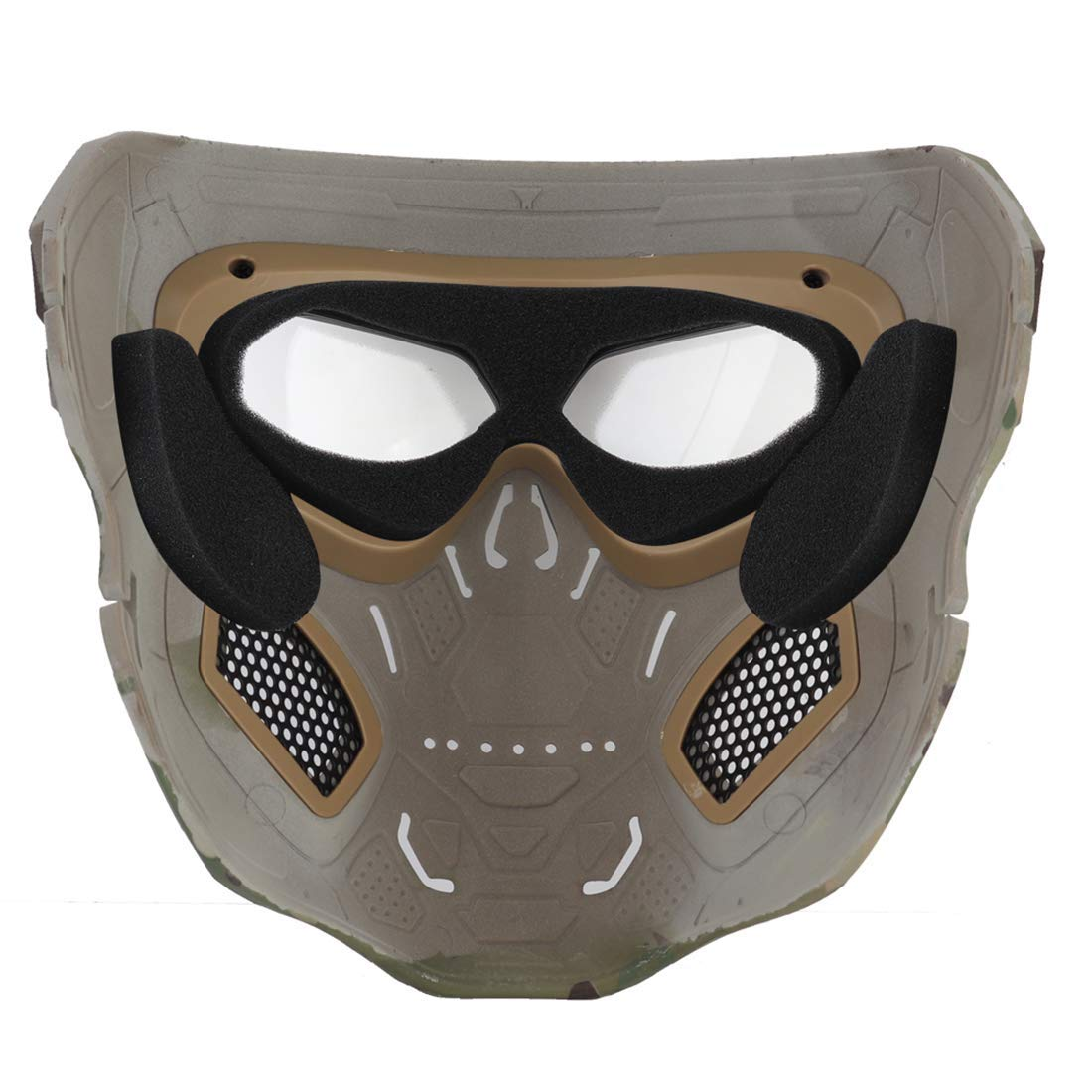 Wosport Skull Airsoft Paintball Mask Full Face Tactical Halloween Party Mask Alexnld Com