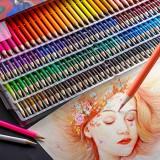48/72/120/160 Colors Professional Oil Colored Pencils Set Artist Painting Sketching Wood Color Pencil School Art Supplies