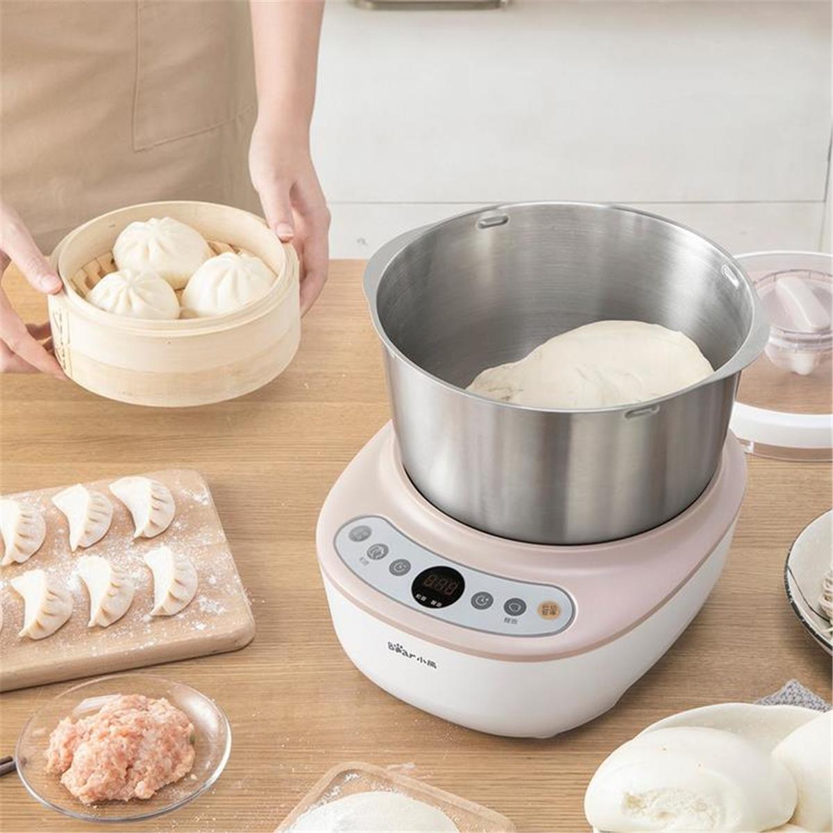 Bear HMJ-A50B1 Household Full-automatic Dough Maker Kneading Dough Fermentation Machine Blender