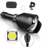 XANES X915 P10 Telescopic Zoom Flashlight 4 Modes Waterproof With 18650 Battery Torch Light
