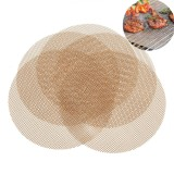 5PCS Outdoor Camping BBQ Grill Mesh Mat Sheet Reusable Non-Stick Barbecue Bake Meat Wire Net Mat