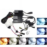Pair H3 75W DC 12V Xenon Car Headlights Bulbs HID Light Lamp with Ballast Kit 4300K-12000K