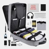 Men Large Capacity USB Multifunctional Bag Outdoor Travel Hiking Backpack