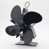 4-Blade Heat Powered Stove Fan for Wood/Log Burner/Fireplace Increases More Warm Air Eco-Friendly Household Fireplace Fan