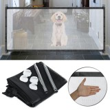 Portable Pets Enclosure Mesh Safety Folding Gate Guard Fences Kit Pet Door For Dog Cat