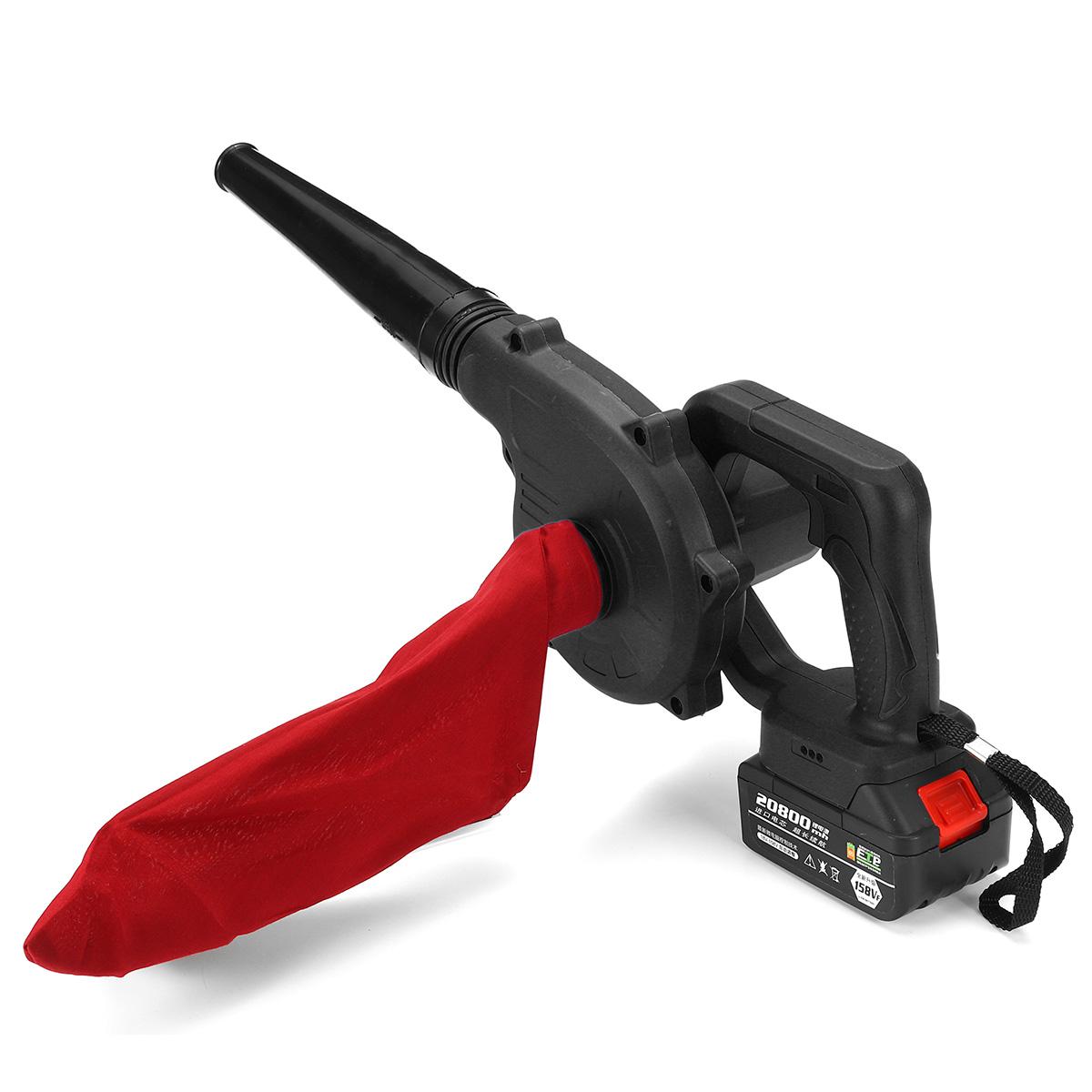 110-240v 2000W 158TV 20800mAh Wireless Blowing & Suction Dual Wind Fan Blower Black