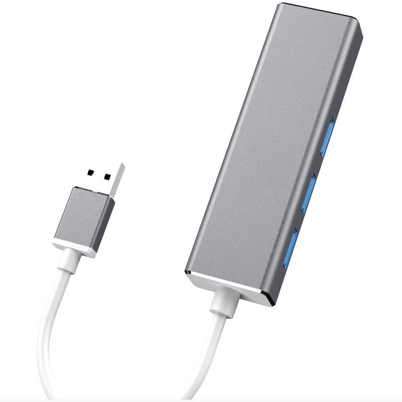 HOWEI HW-1505 USB3.0 to RJ45 Gigabit Ethernet USB Hub Aluminum Alloy with 1000Mbps Network Port Extender Extension Connector