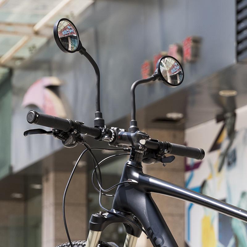 ROCKBROS 1 Pcs 360 Rotation Bike Mirror Safety Cycling Handlebar Rearview Mirror Reflective Mirror