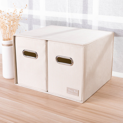 Storage box waterproof desktop organizer large two drawer storage box desktop storage box office storage box