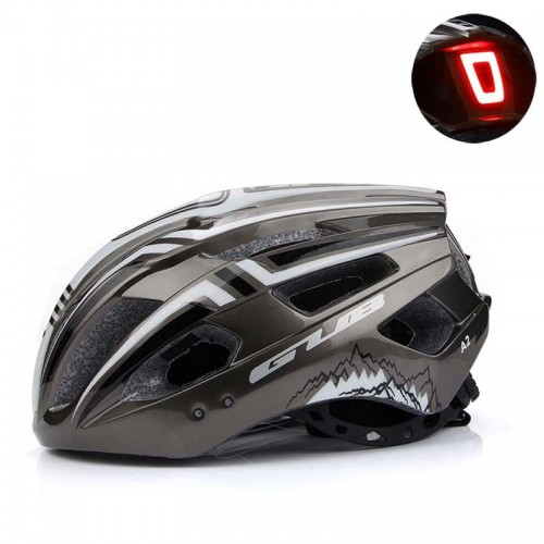 GUB A2 Cycling Helmet With USB Rechargeable LED Light Bicycle Motorcycle Hat LED Cycling Cap