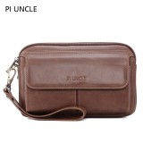 Men Vintage Genuine Leather Large Capacity Crossbody Bag Clutches Bag