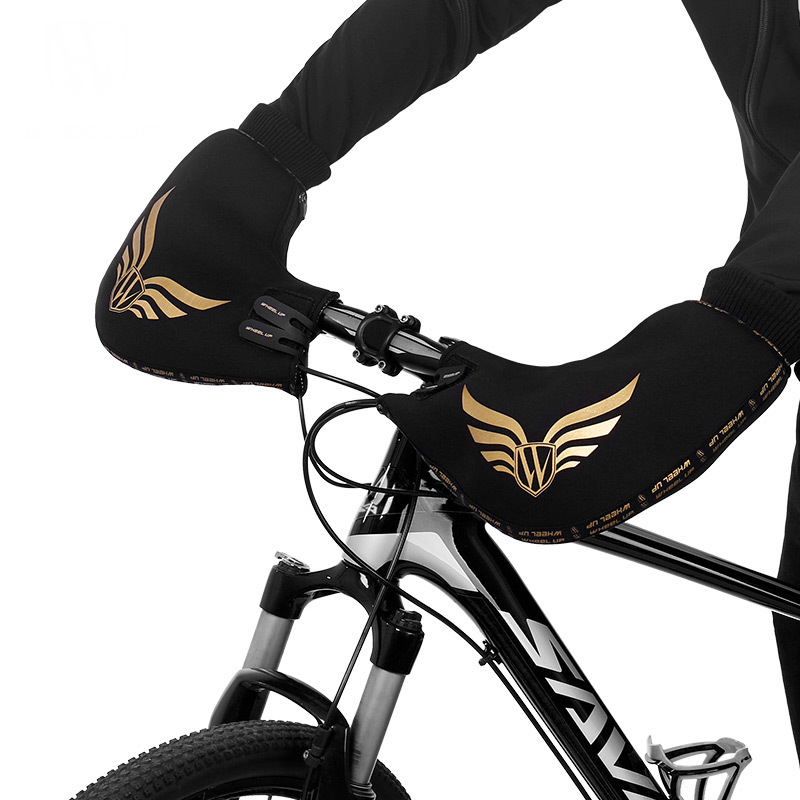 WHEEL UP Windproof Rainproof Bike Gloves Outdoor Riding Cycling Bicycle Handle Gloves Winter Warm Gloves-Mountain/Road