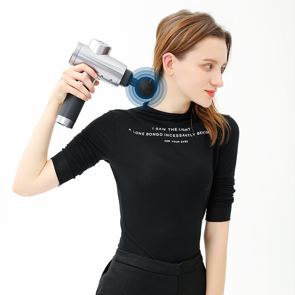 4200r/min 3 Speed Electric Percussion Massager Muscle Relief Vibration Relaxing Therapy Device 6 Heads Electric Massager