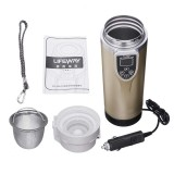 12-24V 350ml Intelligent Vehicle Heating Cup Adjustable Temperature Car Boiling Mug Electric Kettle Boiling Vehicle Thermos