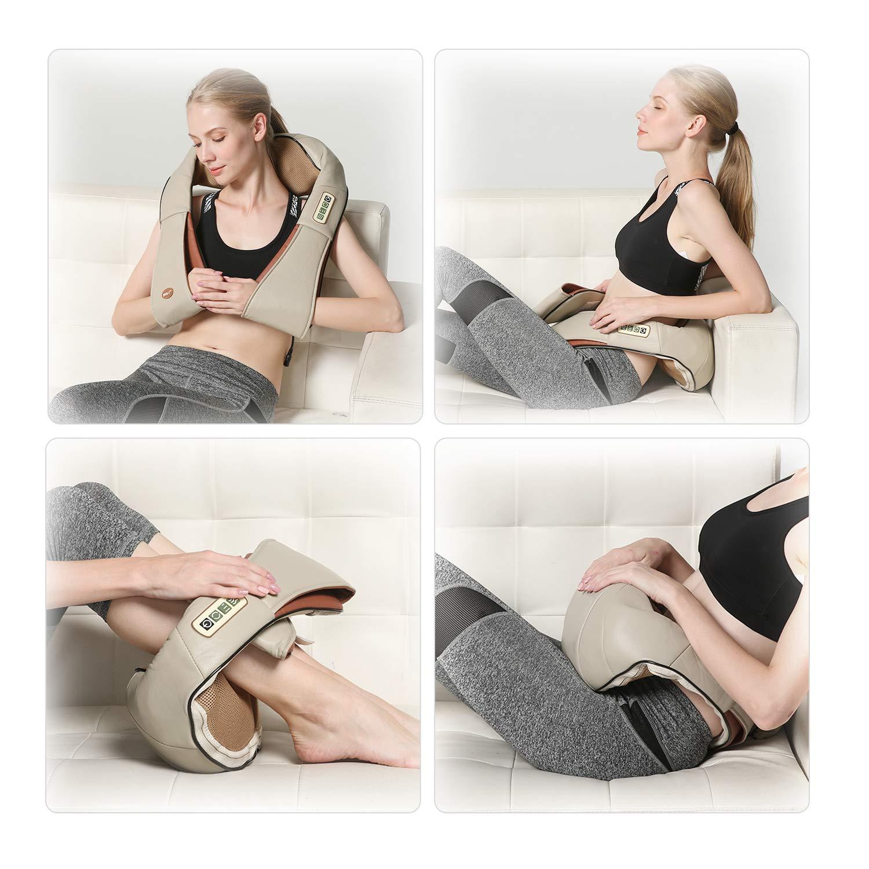 24W Kneading Shawl Massager Wasit Shoulder Cervical Neck Electric Vibration Cushion Massager