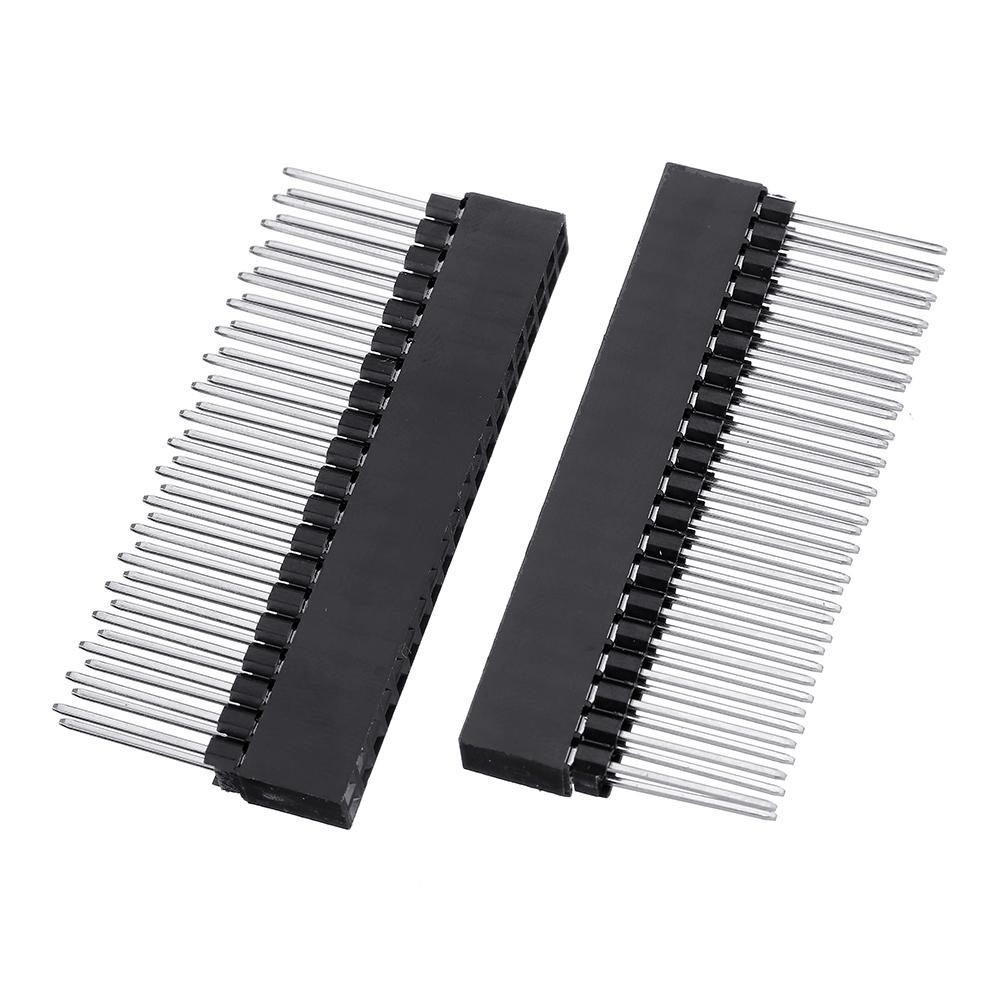 5pcs 2x20 PIN Double Row Straight Female Pin Header 2.54MM Pitch Pin Long 12MM Strip Connector Socket 2*20 40 PIN 2x20pin