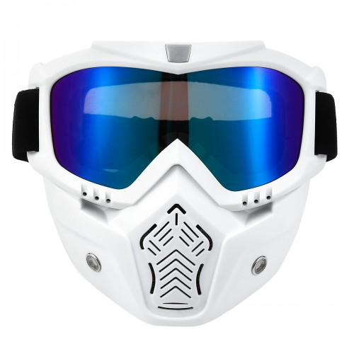 Helmet Face Mask Goggles Eyewear Glasses Windshield For Motorcycle Bike MTB Dirt Bike Riding