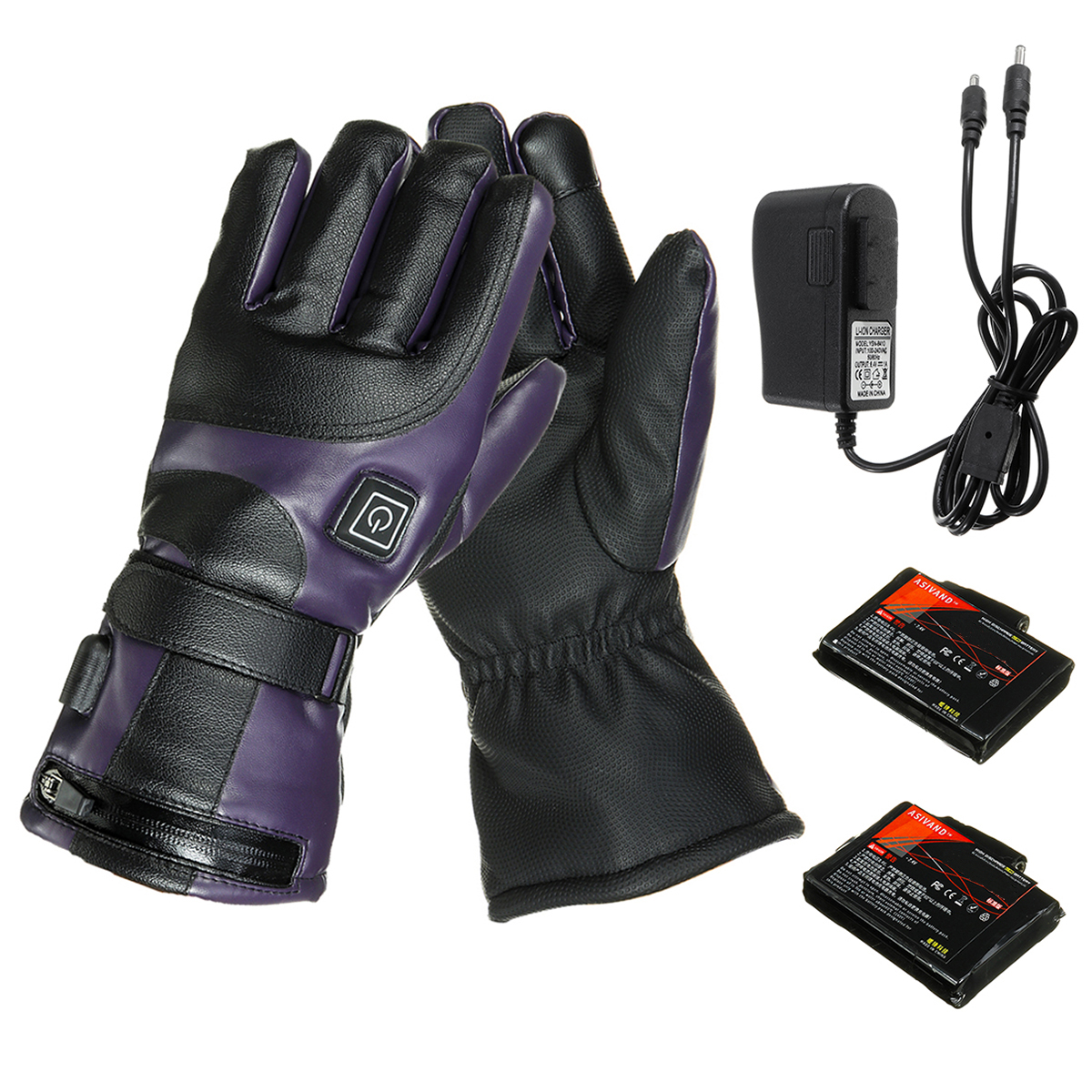 Electric Heated Gloves Rechargeable Touch Screen Heating Winter Warm Motorcycle Gloves 2000/2800/4000mAh