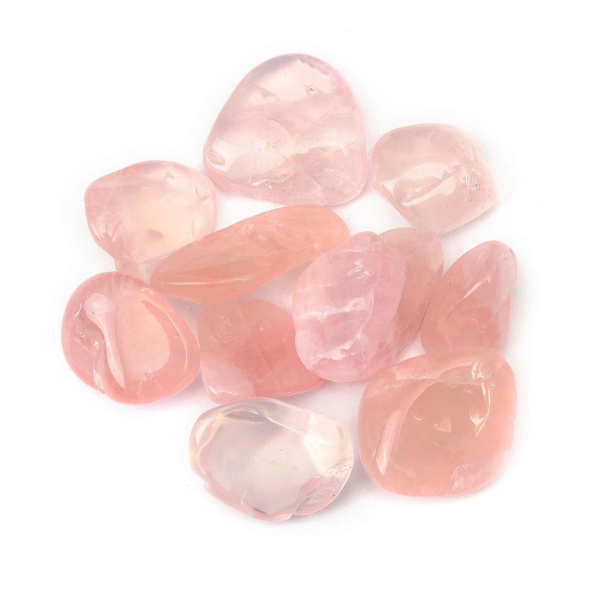 10Pcs Rose Quartz Tumblestones Crystals Stone Polished Healing Specimen Decorations