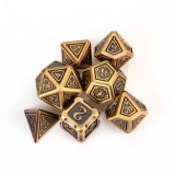 7pcs Set Embossed Heavy Metal Polyhedral Dices DND RPG MTG Role Playing Board Game Dices Set Zinc Alloy