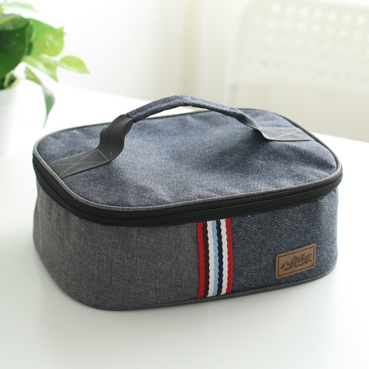 600D Oxford Picnic Bag Portable Insulated Thermal Cooler Lunch Box Bag Storage Bag