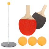 60/70/90/110cm Elastic Soft Shaft Table Tennis Trainer Children's Students Eyesight Trainer-With Rackets/Without Rackets