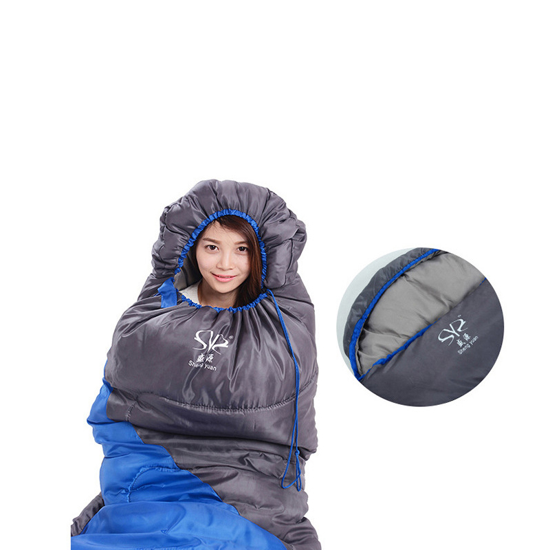 Envelope Waterproof Sleeping Bag Outdoor Camping Traveling Sleeping Bag Winter Cotton Warm Adult Sleeping Bag
