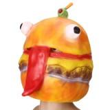Burger Hamburger Latex Mask Fancy Dress Full Face Head Halloween Cosplay Party