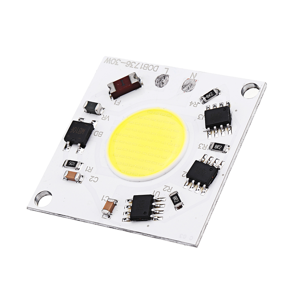 AC220-240V 30W DIY COB LED Light Chip Bulb Bead 36x36mm For Flood Light Spotlight