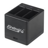 SheIngKa FLW205 3-Channel Battery Charger 5V 2.1A For Gopro Hero 5 / 6 / 7 / 8 Black FPV Camera